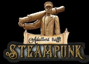 Adalbert trifft Steampunk Logo